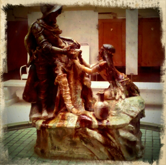 The fountain/statue in the Fordyce Bath House, Hot Springs