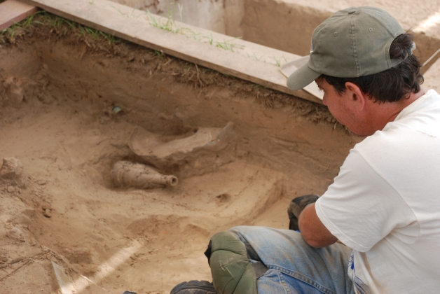 Excavating a bottle