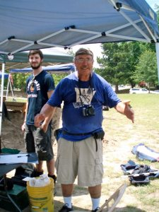 Skip at the 2012 Arkansas Archeological Society Dig where he served as the principle liaison to the public.